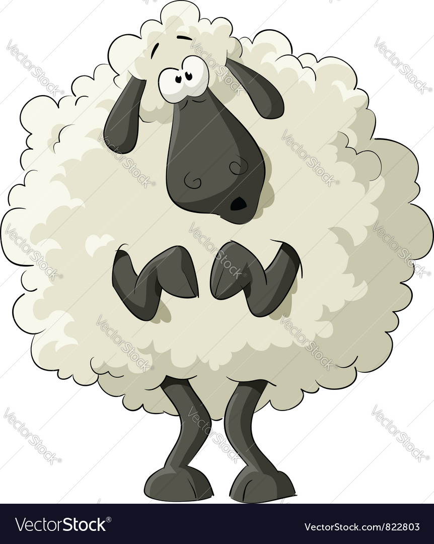 Scared sheep vector | Price: 3 Credit (USD $3)