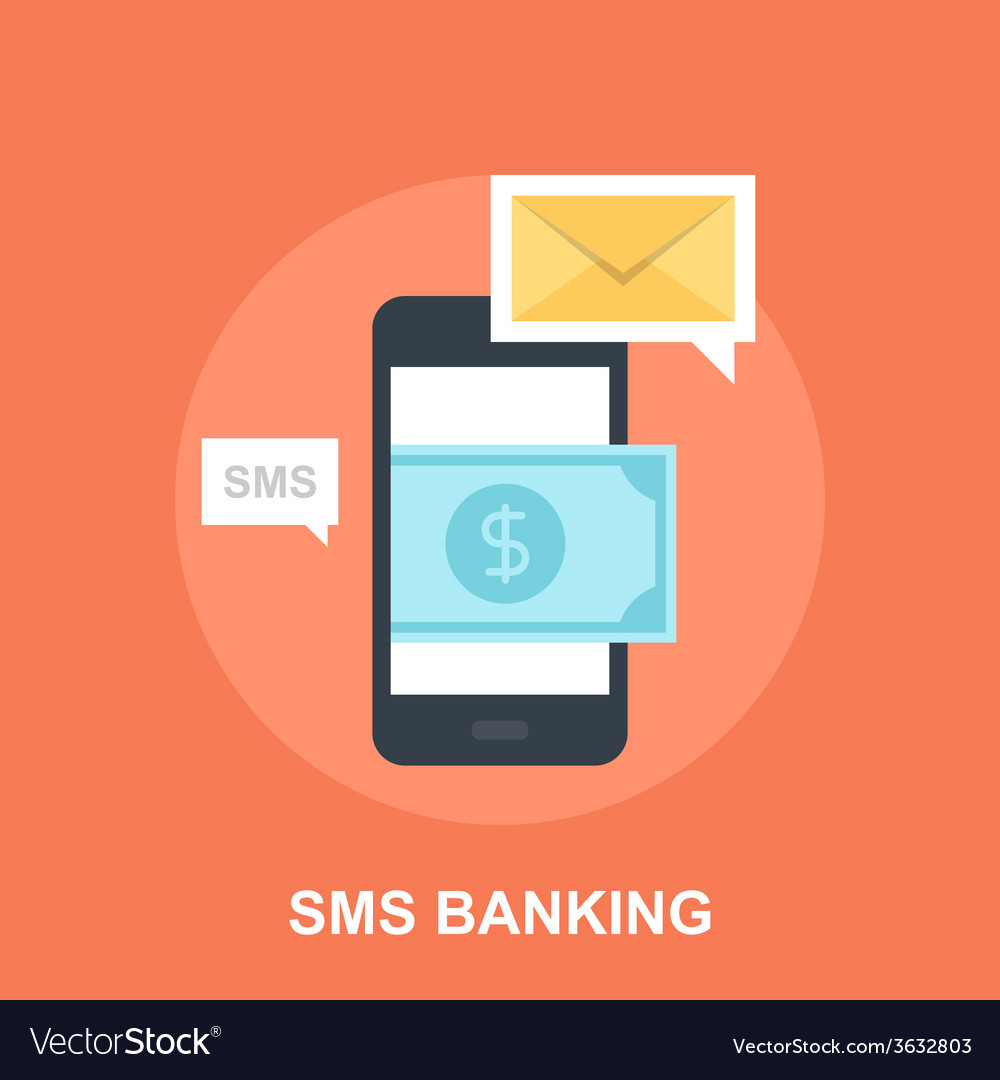 Sms banking vector | Price: 1 Credit (USD $1)