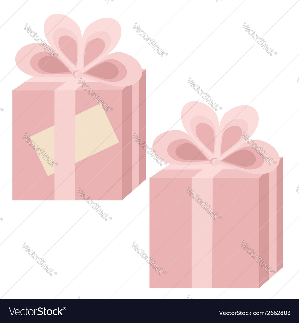 Two pink gift boxes vector | Price: 1 Credit (USD $1)