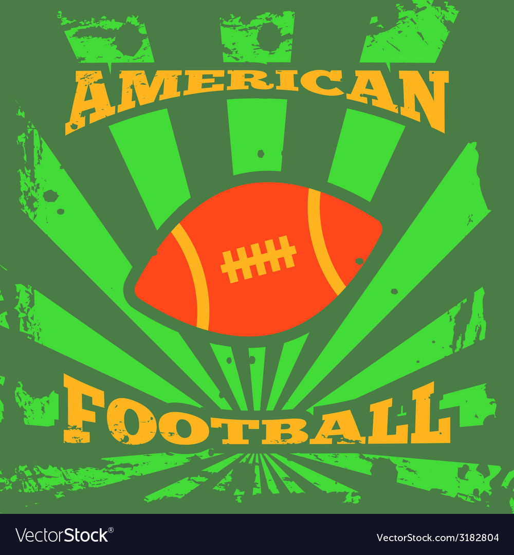 American football rugby poster vector | Price: 1 Credit (USD $1)