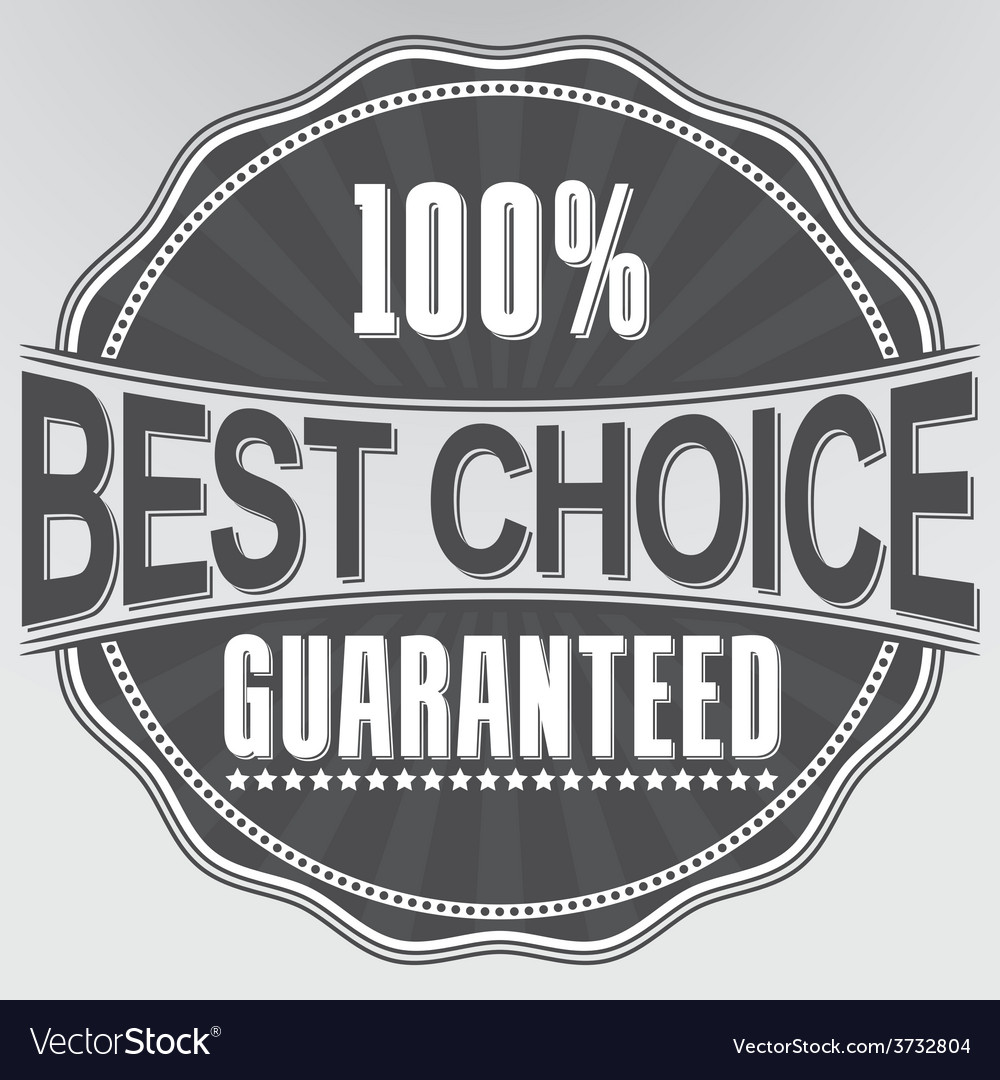 Best choice guaranteed retro label vector | Price: 1 Credit (USD $1)