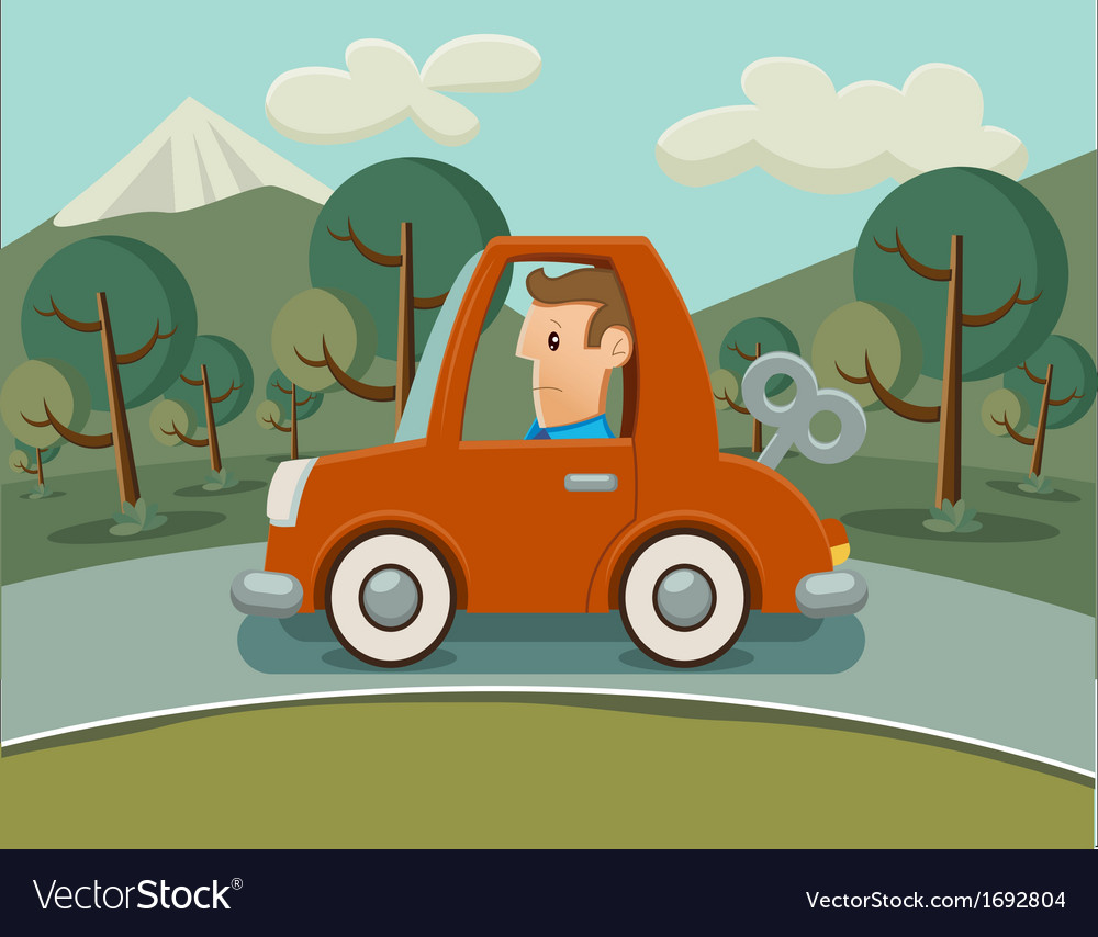 Car without fuel vector | Price: 1 Credit (USD $1)