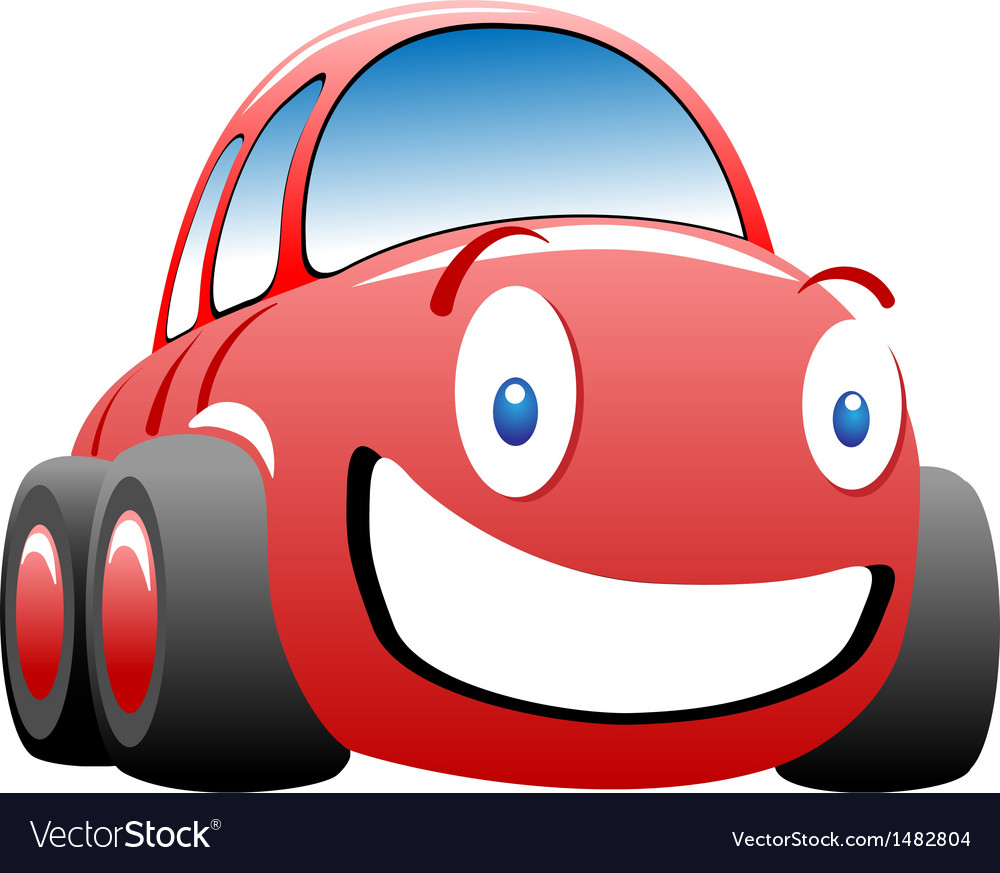 Cheerful race car vector | Price: 1 Credit (USD $1)