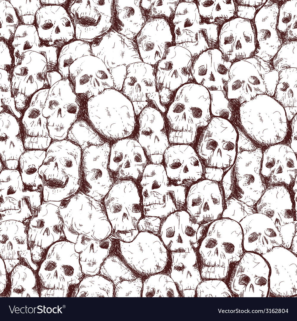 Grungy skull vector | Price: 1 Credit (USD $1)