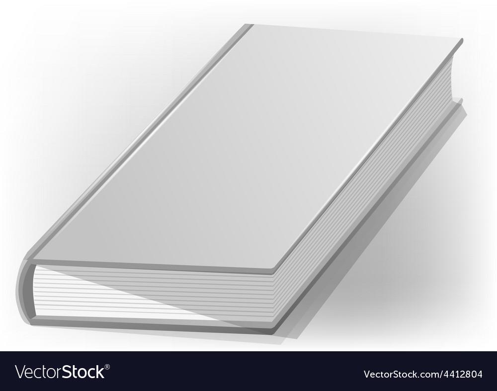 Hardback book white vector | Price: 1 Credit (USD $1)
