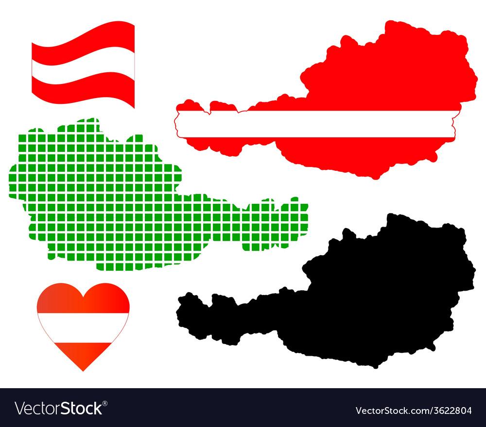 Map of austria vector | Price: 1 Credit (USD $1)