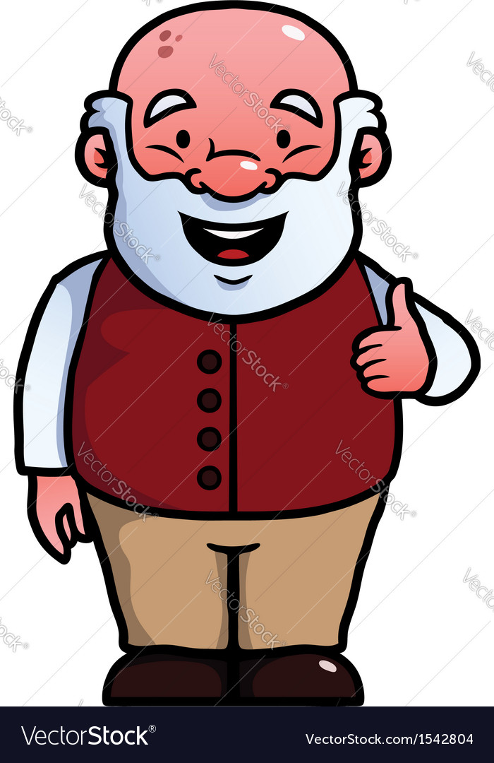 Old man giving thumbs up vector   Price: 1 Credit (USD $1)