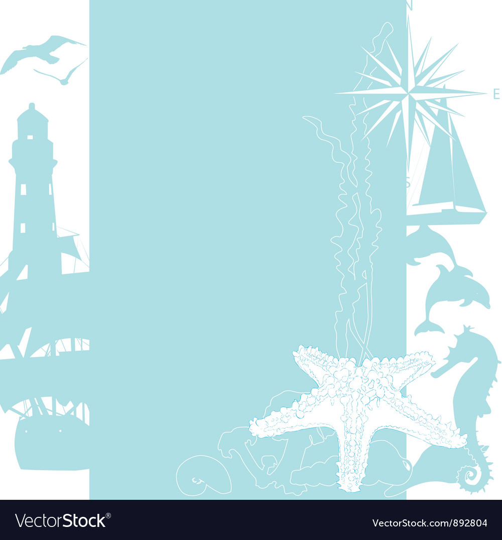 Sea background with silhouettes vector | Price: 1 Credit (USD $1)