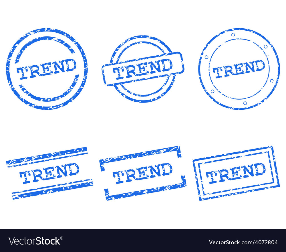 Trend stamps vector | Price: 1 Credit (USD $1)