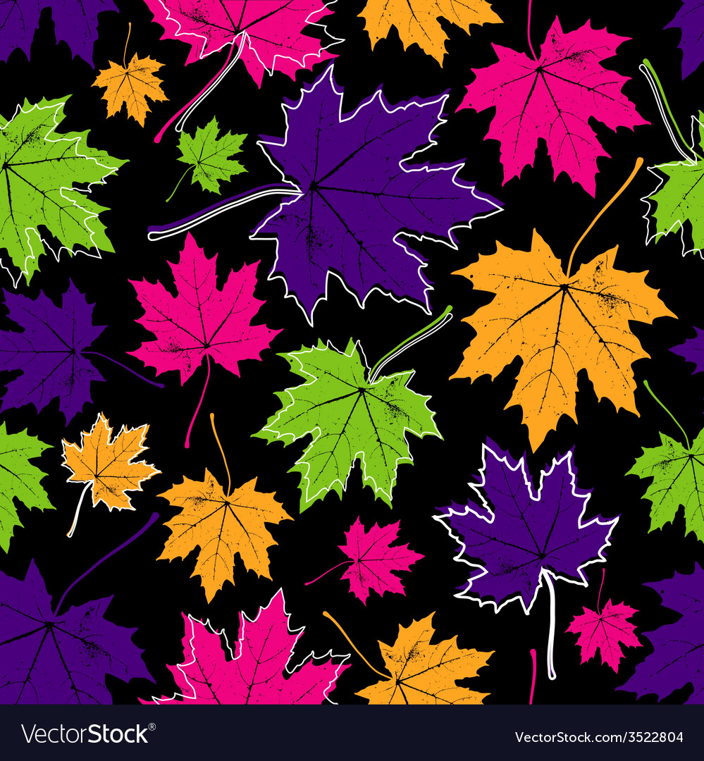 Vintage floral autumn fall seamless pattern with vector | Price: 1 Credit (USD $1)