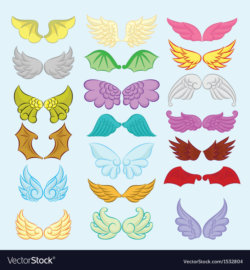 Wings cute collection part ii vector | Price: 1 Credit (USD $1)