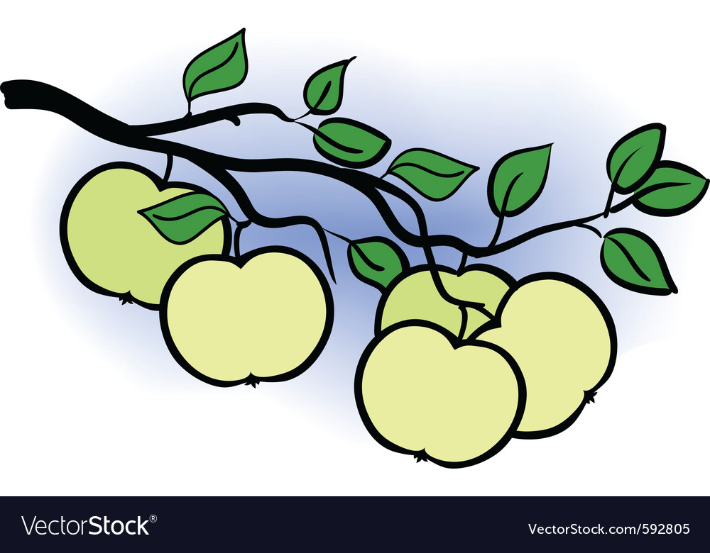 Apple branch vector | Price: 1 Credit (USD $1)
