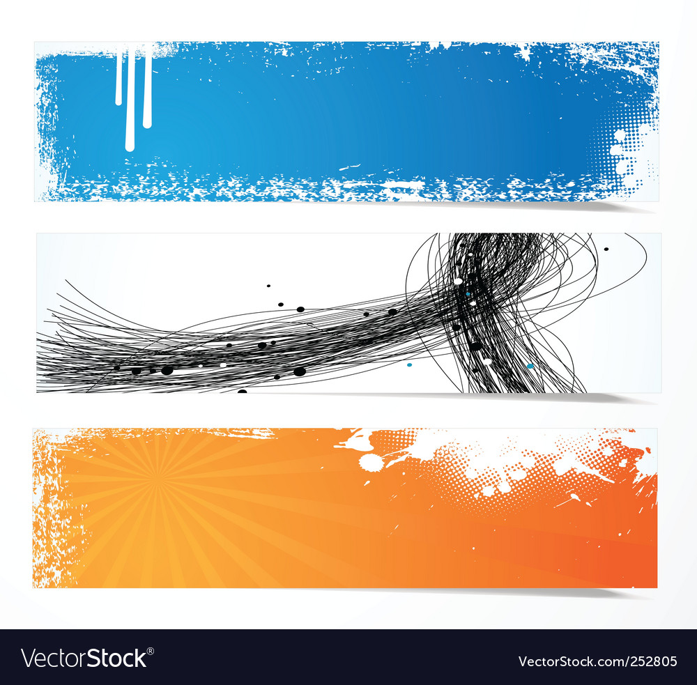 Artistic banners vector | Price: 1 Credit (USD $1)