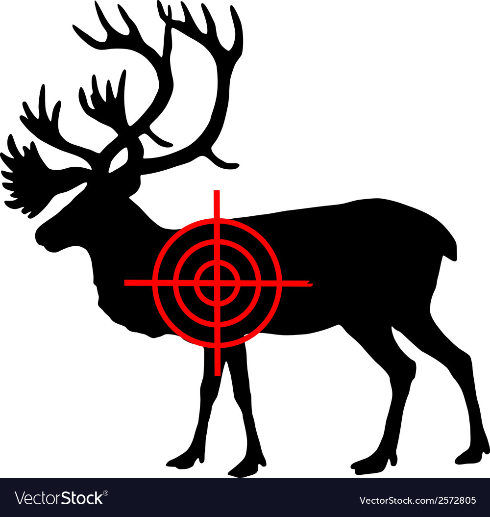 Caribou crosshair vector | Price: 1 Credit (USD $1)