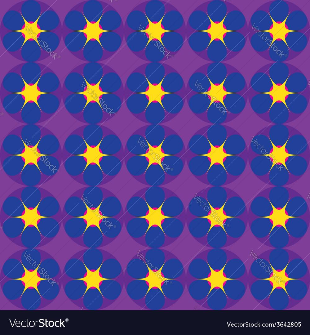 Cartoon stars on dark blue background vector | Price: 1 Credit (USD $1)