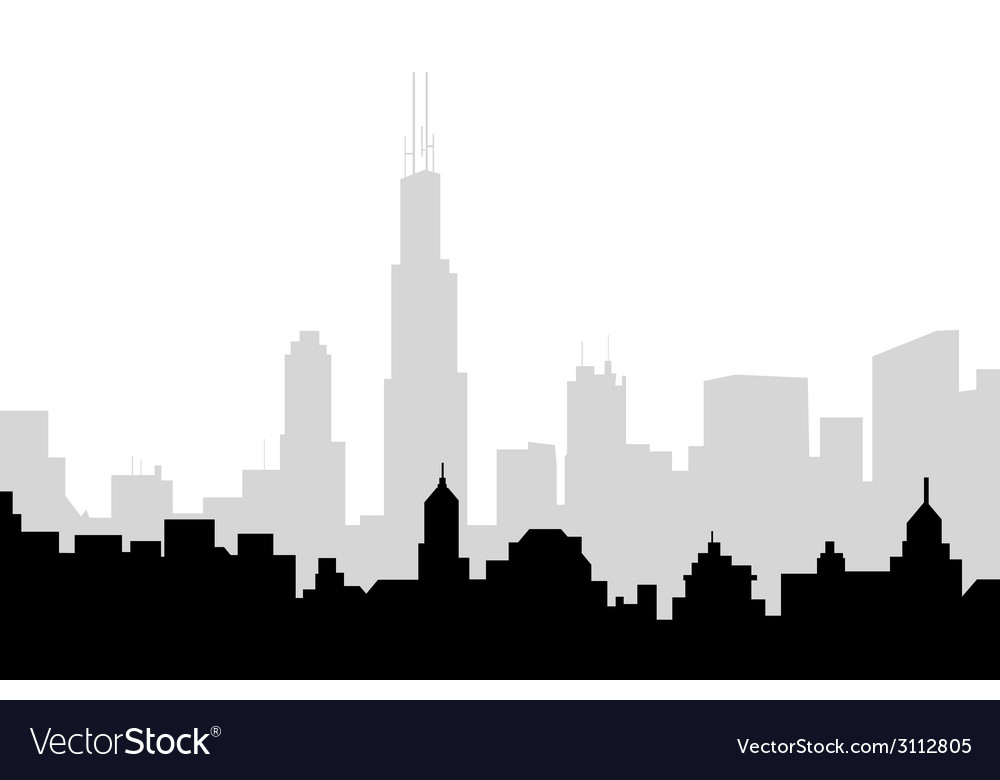 Chicago skyline vector | Price: 1 Credit (USD $1)