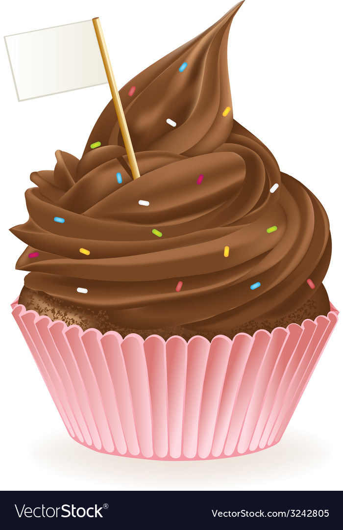 Chocolate flag cupcake vector | Price: 3 Credit (USD $3)