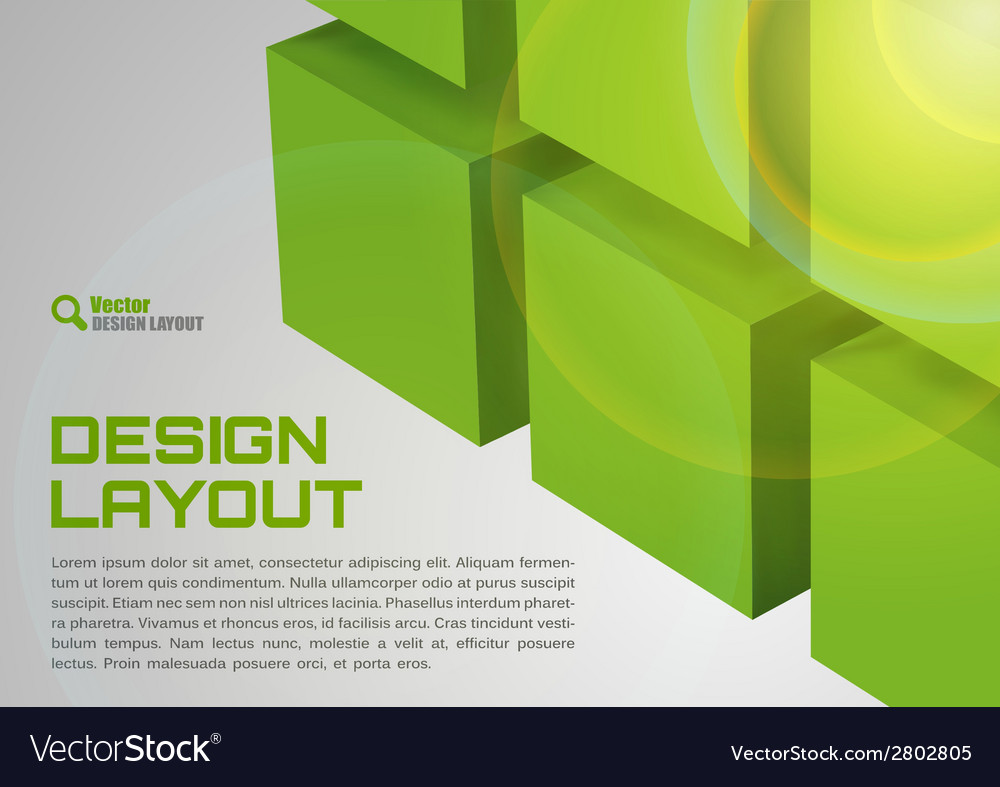Cube design green vector | Price: 1 Credit (USD $1)