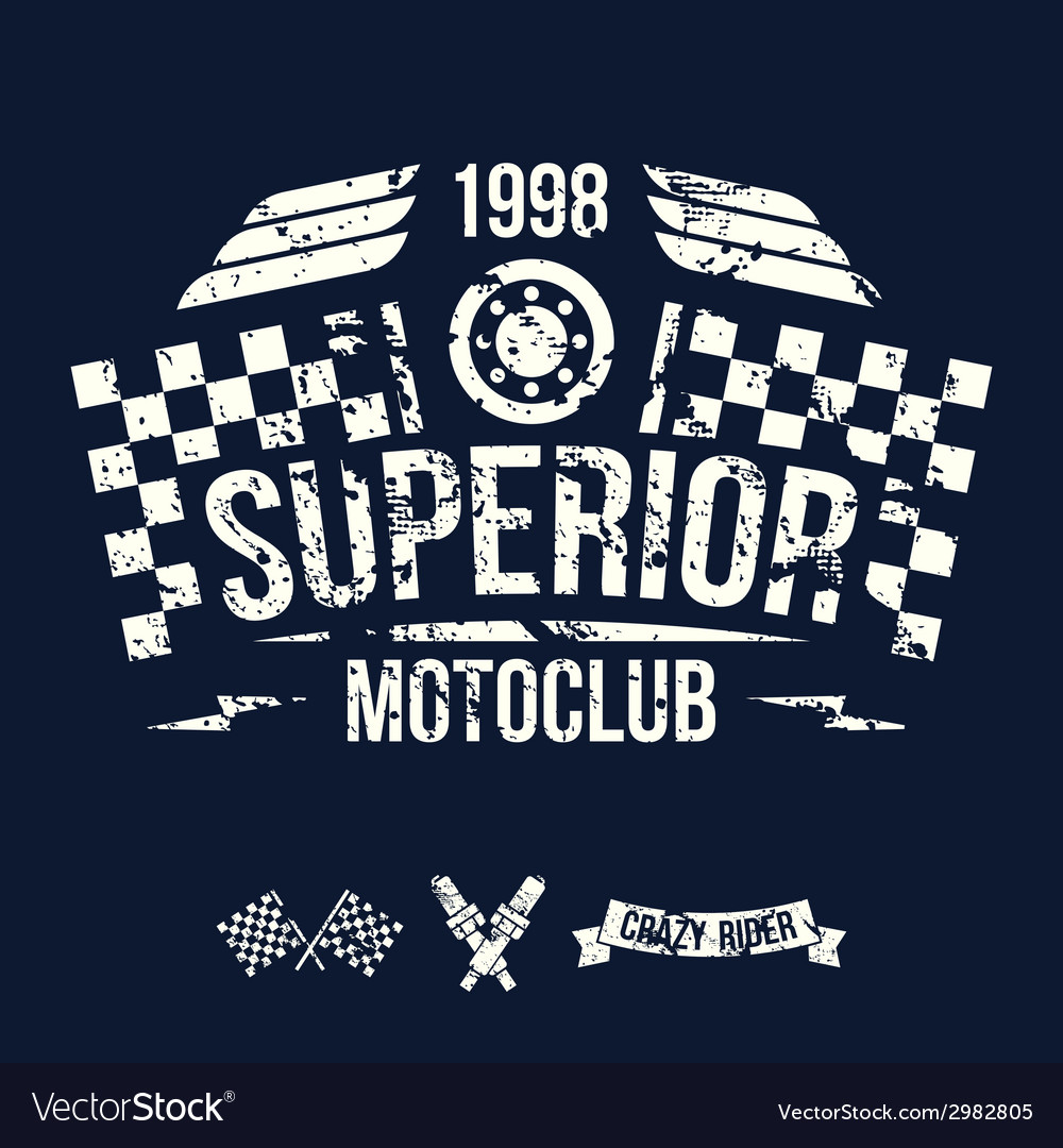 Emblem of the motorcycle club in retro style vector | Price: 1 Credit (USD $1)