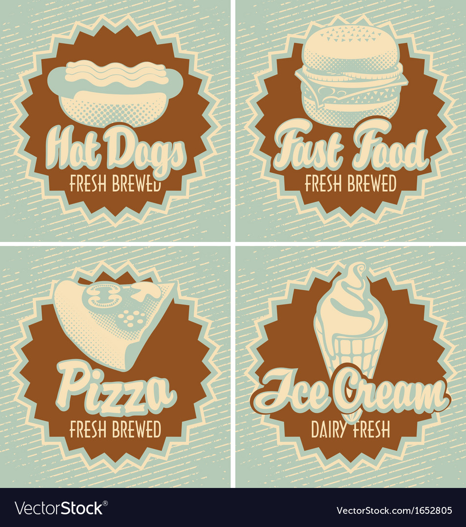 Fast food brewed vector | Price: 1 Credit (USD $1)