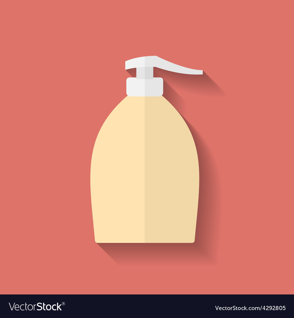 Icon of liquid soap flat style vector | Price: 1 Credit (USD $1)