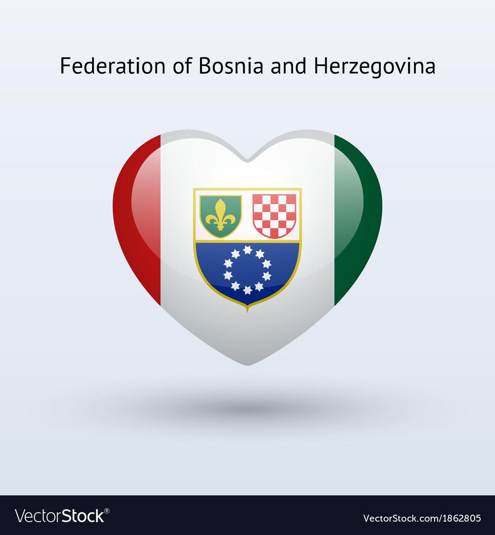 Love federation of bosnia and herzegovina symbol vector   Price: 1 Credit (USD $1)