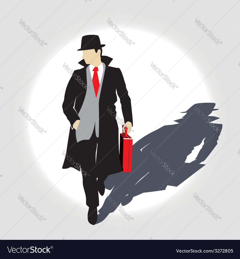 Man with the diplomat vector | Price: 1 Credit (USD $1)