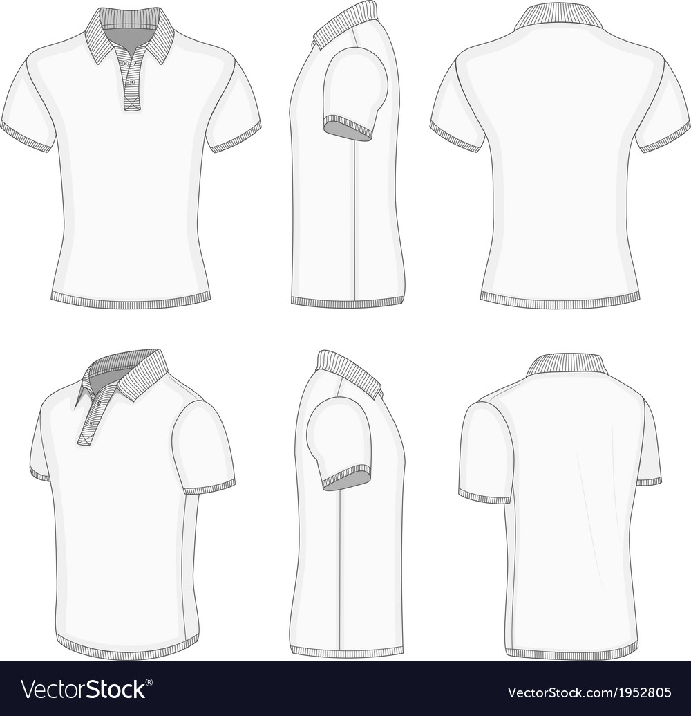 Mens white short sleeve polo shirt vector | Price: 1 Credit (USD $1)