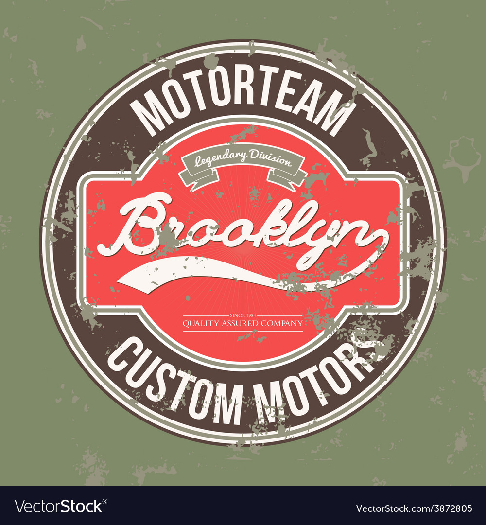 Motorteam brooklyn t-shirt graphic vector | Price: 1 Credit (USD $1)