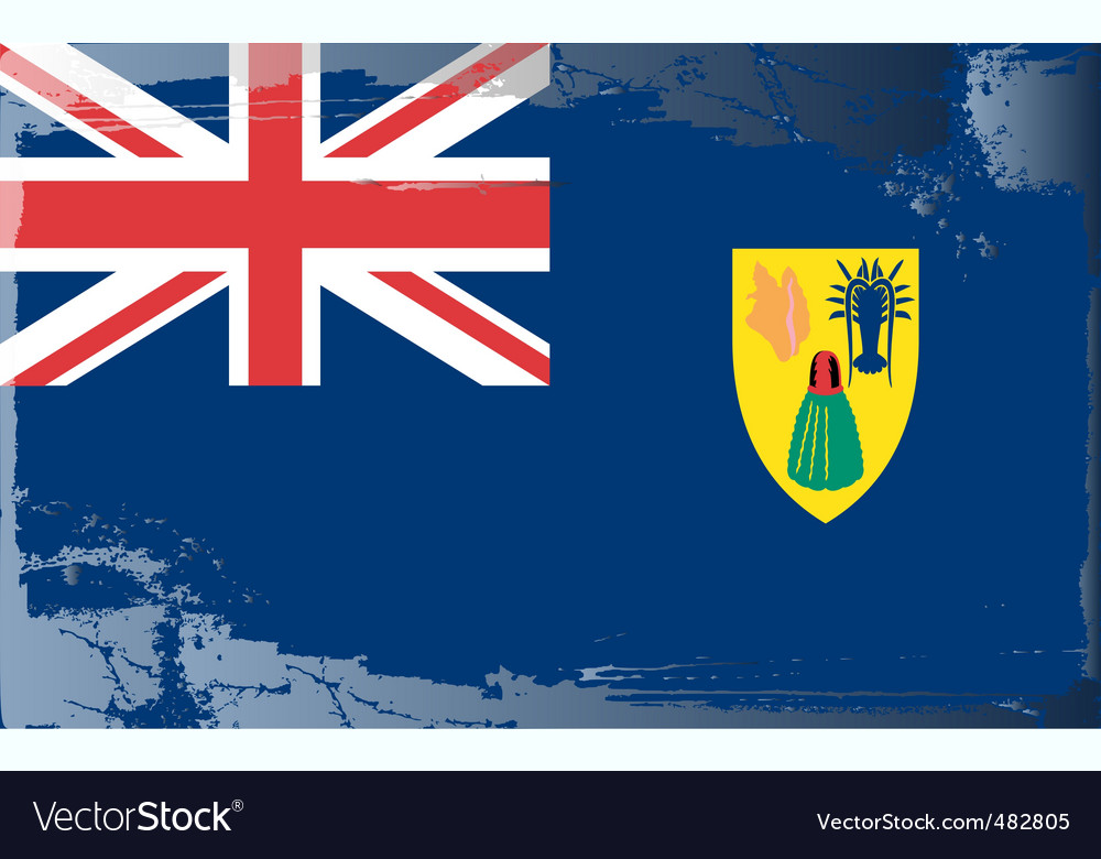 Turks and caicos islands flag vector | Price: 1 Credit (USD $1)