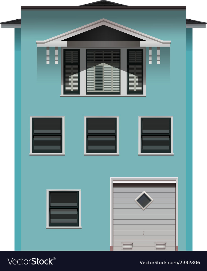 A big blue building vector | Price: 1 Credit (USD $1)