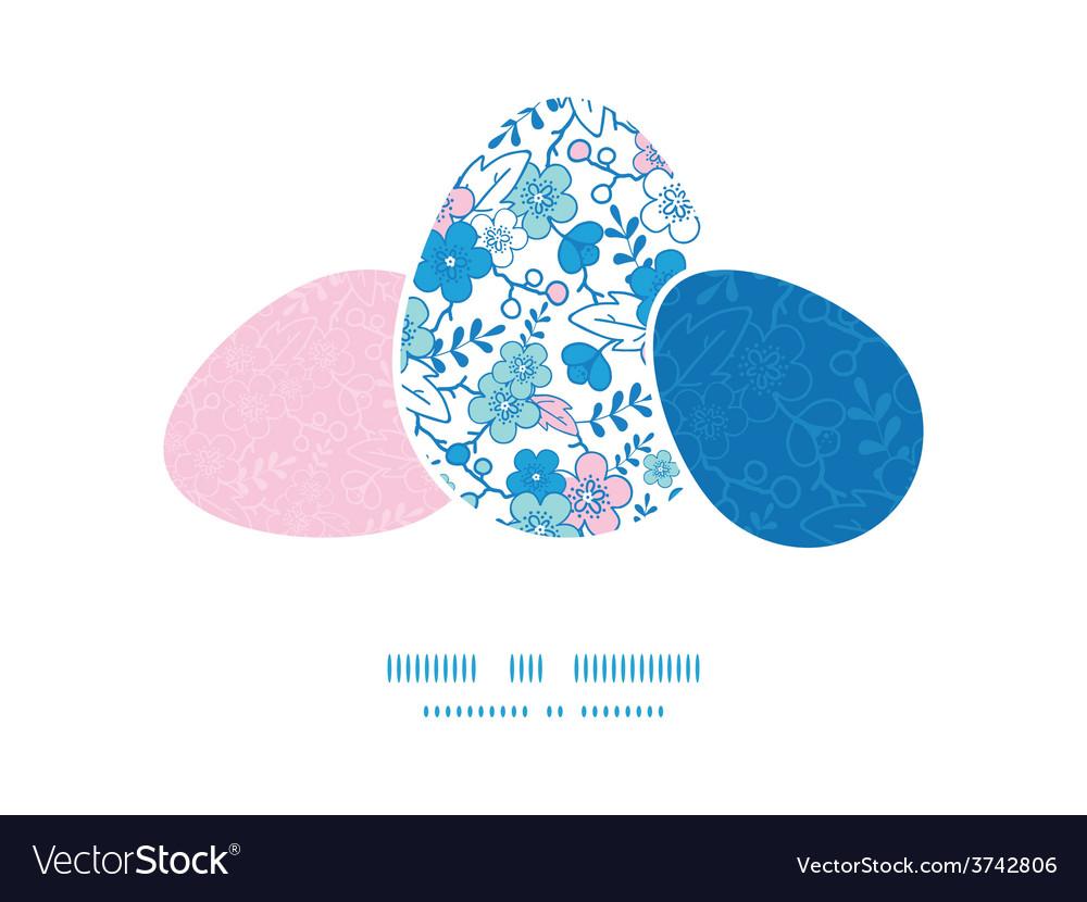 Blue and pink kimono blossoms three vector   Price: 1 Credit (USD $1)