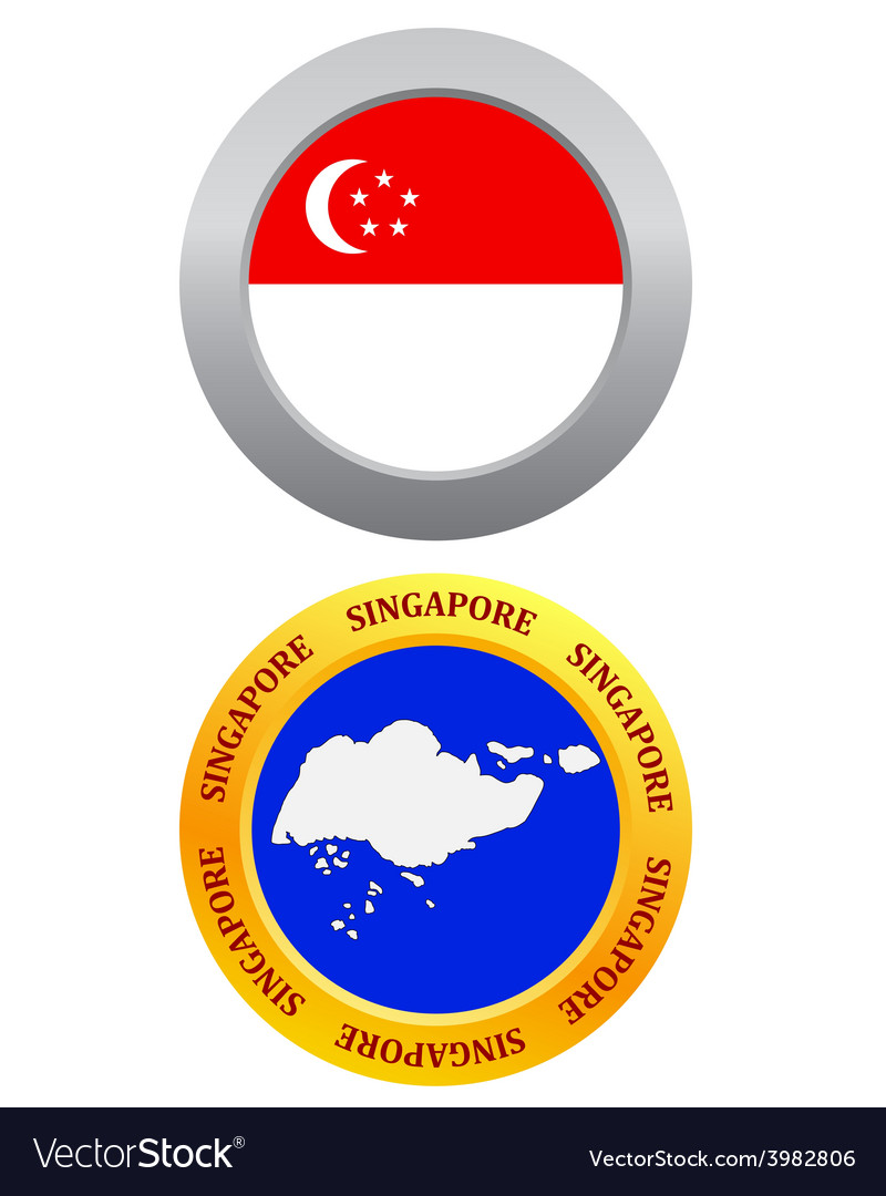 Button as a symbol singapore vector   Price: 1 Credit (USD $1)