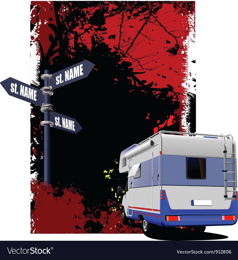 Caravan background vector | Price: 1 Credit (USD $1)