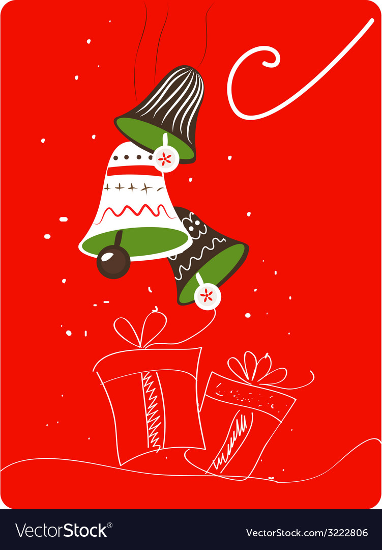 Christmas retro greeting card with decoration and vector | Price: 1 Credit (USD $1)
