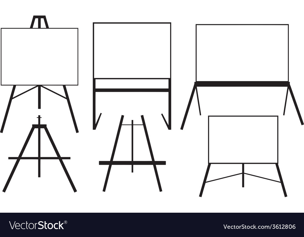 Easels vector | Price: 1 Credit (USD $1)