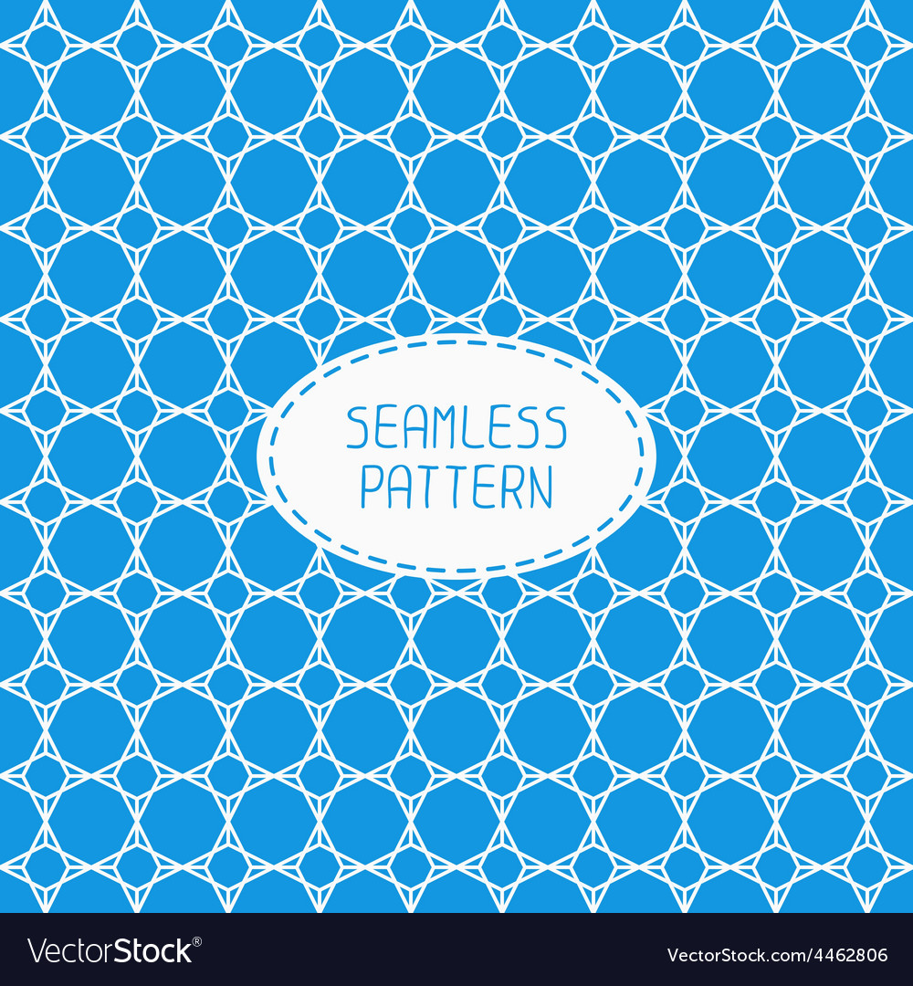 Geometric blue lattice seamless arabic pattern vector | Price: 1 Credit (USD $1)
