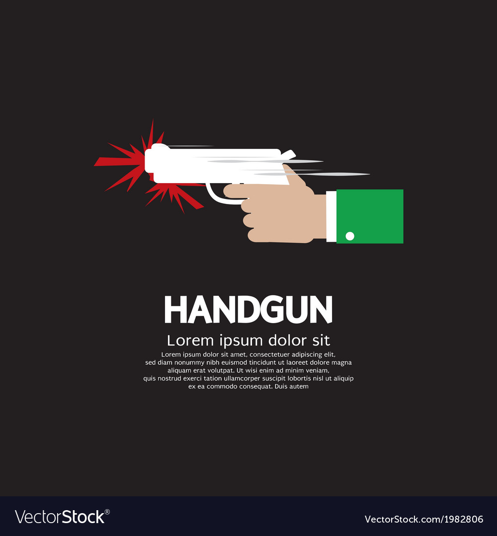 Hand holding a gun vector | Price: 1 Credit (USD $1)