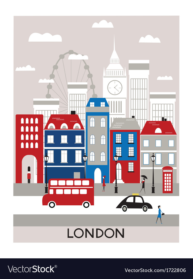 London city vector | Price: 1 Credit (USD $1)