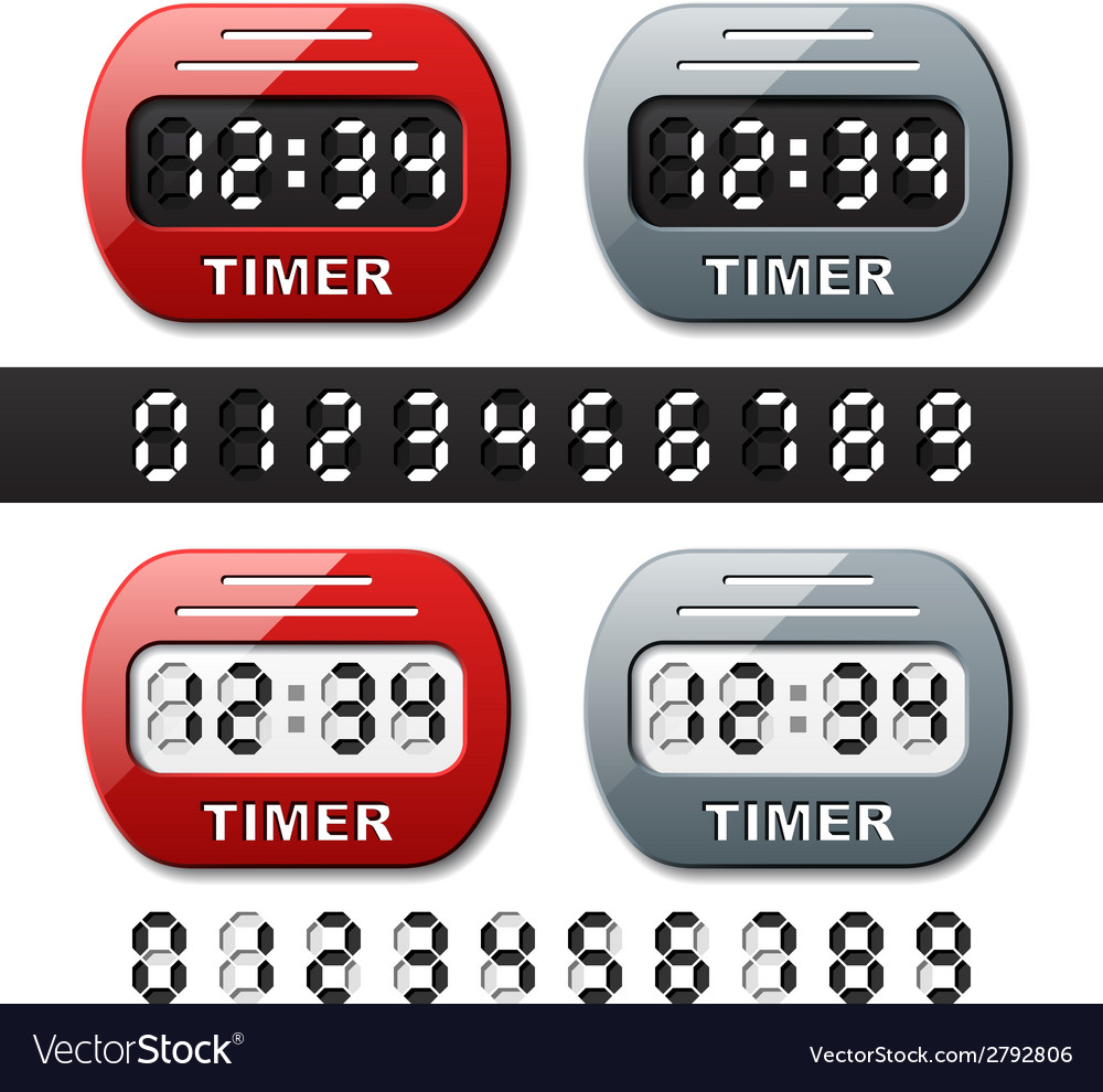 Mechanical counter - countdown timer vector | Price: 1 Credit (USD $1)