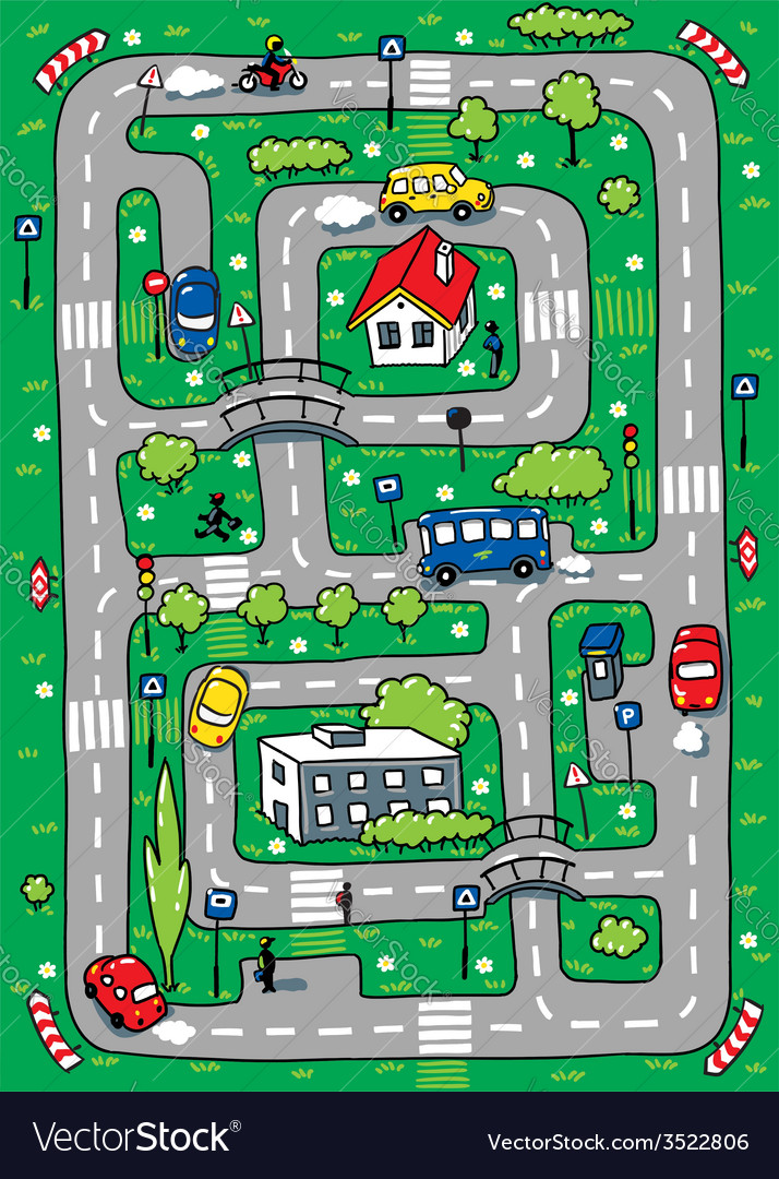 Road pattern vector | Price: 1 Credit (USD $1)