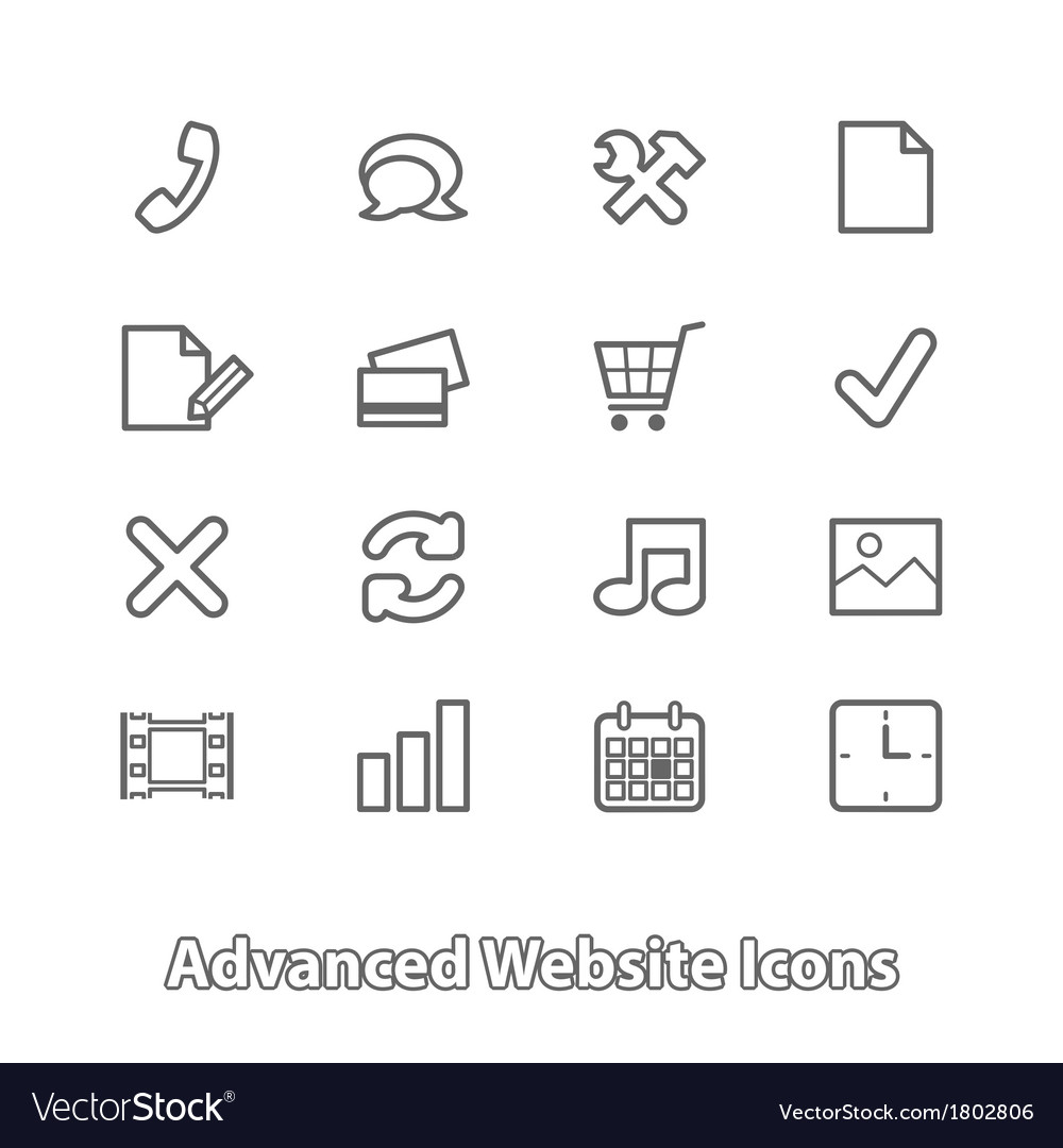Set of website icons for online shopping contour vector | Price: 1 Credit (USD $1)