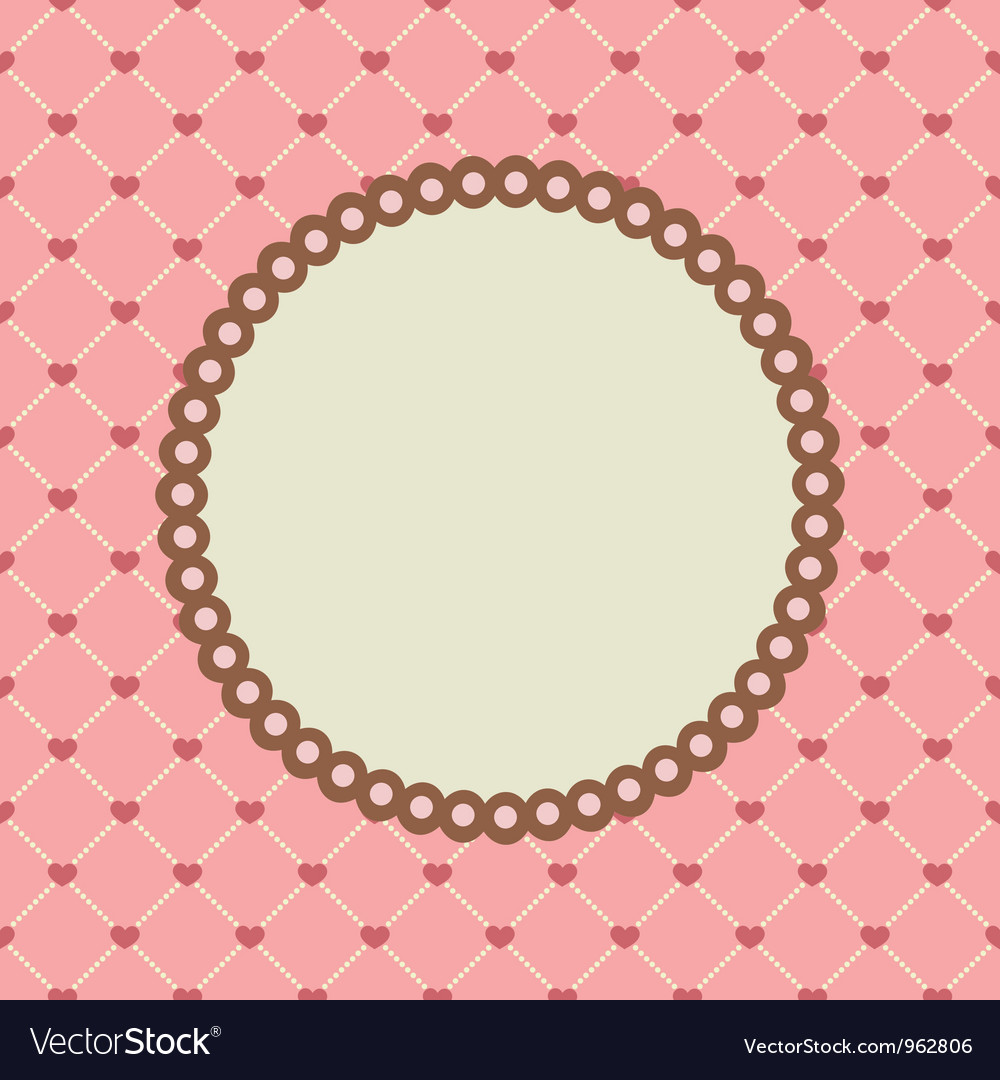 Set with circle frames for wedding invitation vector | Price: 1 Credit (USD $1)