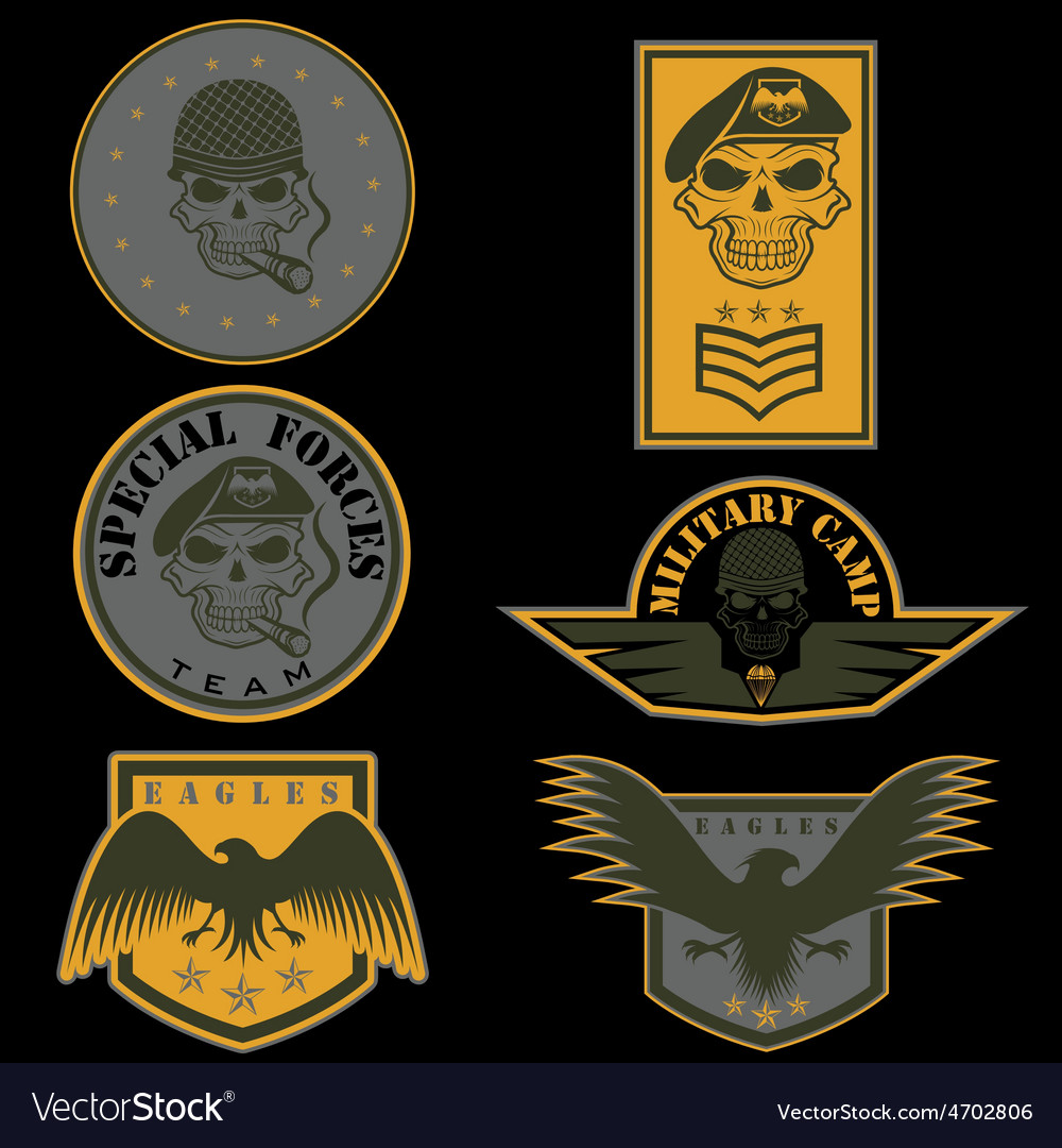 Special unit military emblem set design template vector | Price: 3 Credit (USD $3)