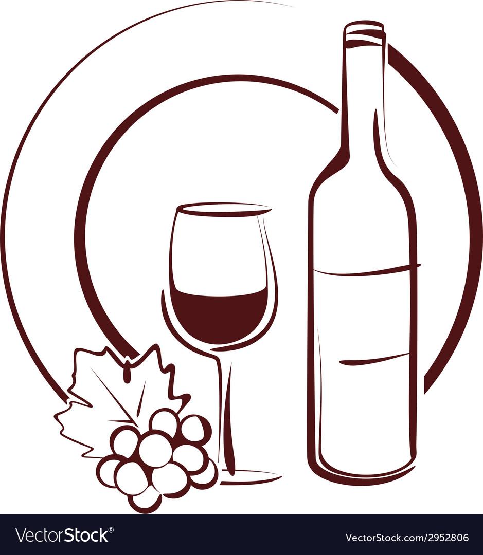 Wine still life vector | Price: 1 Credit (USD $1)