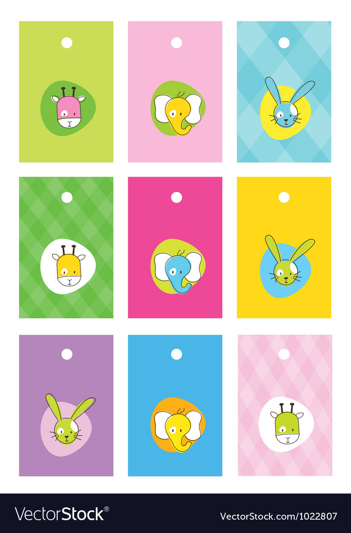 Cute birthday gift tags vector | Price: 1 Credit (USD $1)