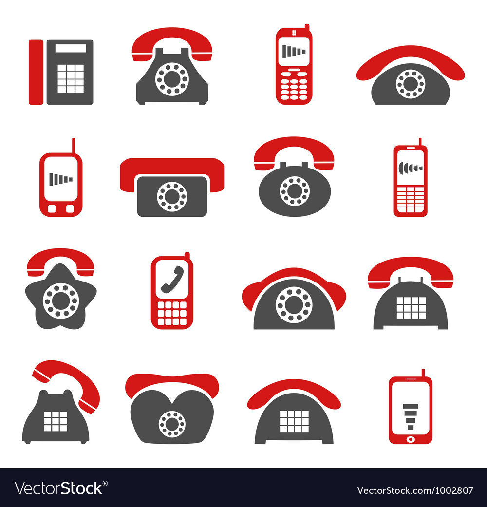 Phone telecommunications icon vector | Price: 1 Credit (USD $1)