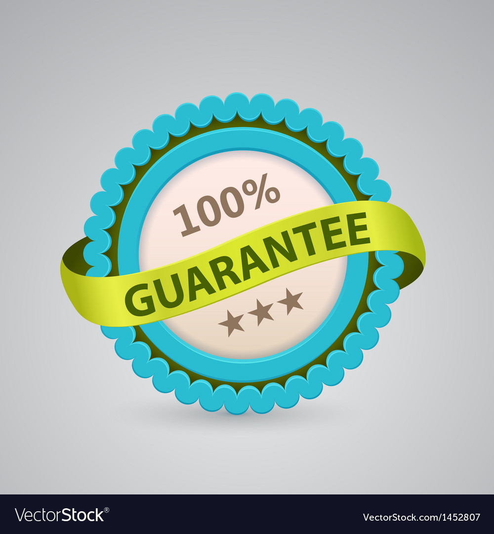 Single label of 100 guarantee vector | Price: 1 Credit (USD $1)