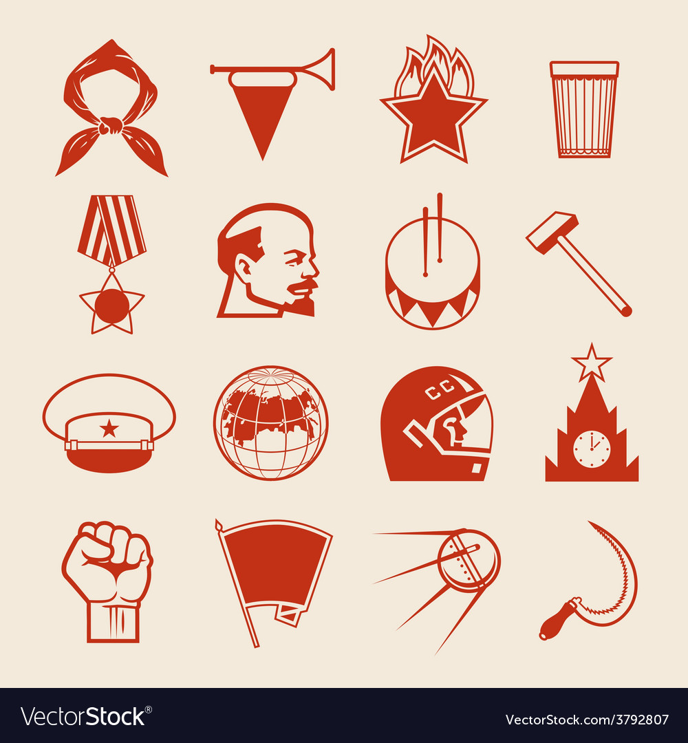 Soviet icons0 vector | Price: 1 Credit (USD $1)