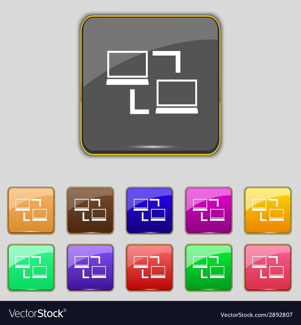 Synchronization sign icon notebooks sync symbol vector   Price: 1 Credit (USD $1)